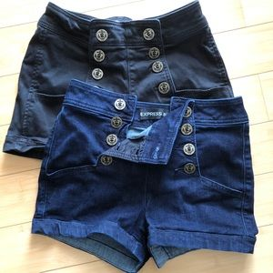 Two pairs of Express shorts!!
